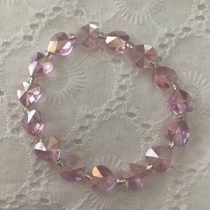 Pink hearts bracelet
